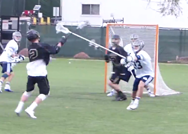 Was the goalie screened on the initial shot? That juicy rebound and freshman defender Boston Handley's miss on the ground ball led to the final marker.
